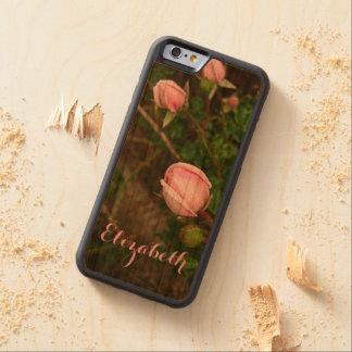 Personalized Vintage Rosebuds Wooden Phone Case