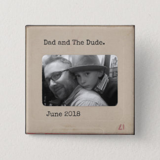Personalized Vintage Slide button