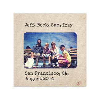 Personalized Vintage Slide photo Canvas Print