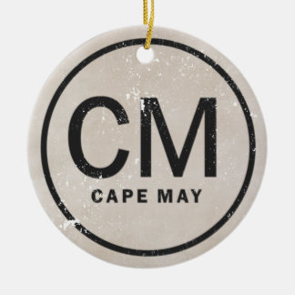 Personalized Vintage Style Cape May NJ Ornament