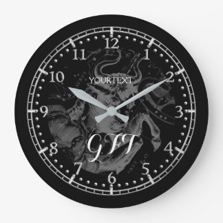 Personalized Vintage Taurus Constellation Zodiac Large Clock