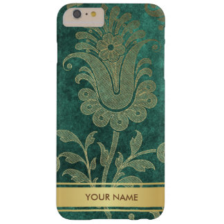 Personalized Vip Green Velur Gold Stripes Case