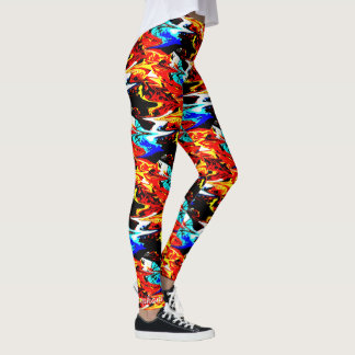 Personalized Vivid Colors Abstract Pattern Leggings