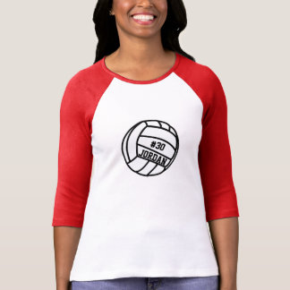 Personalized Volleyball Player Number, Name, Team Tshirts