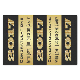 Personalized w/Family Name 2017 Graduation Tissue Paper