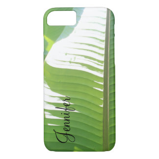 Personalized w/ Photo of Banana Leaves & Sunlight iPhone 8/7 Case