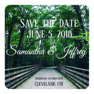 Personalized Walk in the Woods / Save the Date Card