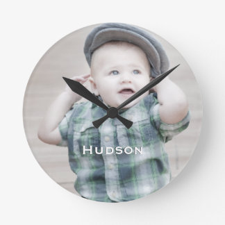 Personalized Wall Clock Famil, Baby Couple's Photo