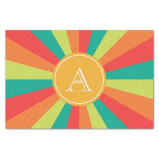 Personalized Warm Summer Color Wheel Monogram Tissue Paper