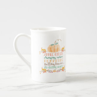 Personalized Watercolor Fall Mug