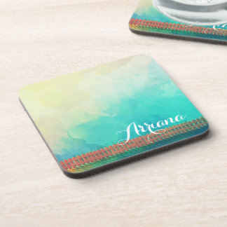 Personalized Watercolor Picket Fence | Coaster