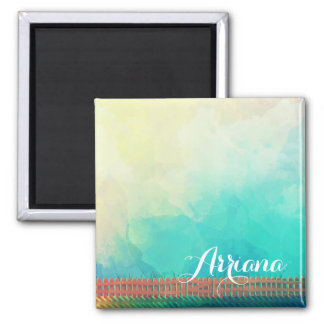 Personalized Watercolor Picket Fence | Magnet