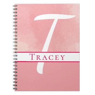 Personalized Watercolor Pink Monogram Journal