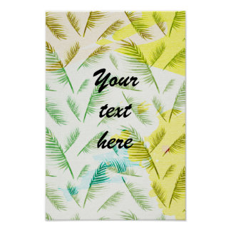 Personalized watercolor summer poster