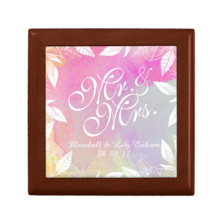 Personalized Watercolor Wedding Gift Box