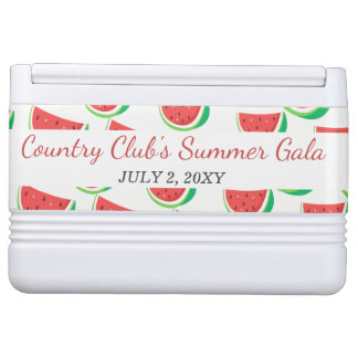 Personalized Watermelon Pattern Summer Party Cooler