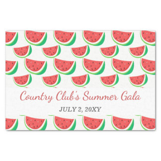 Personalized Watermelon Pattern Tissue Paper