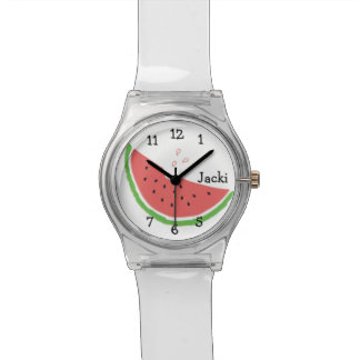 Personalized watermelon watch