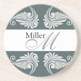 Personalized  Wedding Anniversary Monogram Drink Coaster