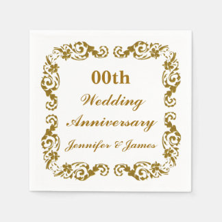Personalized Wedding Anniversary Napkin Paper Napkin