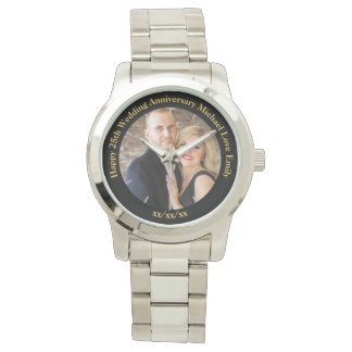 Personalized Wedding Anniversary PHOTO Custom Him Watch