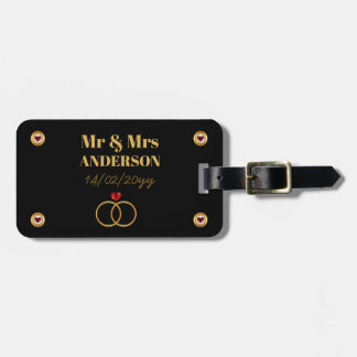 Personalized Wedding / Anniversary / Vow Renewal Luggage Tag