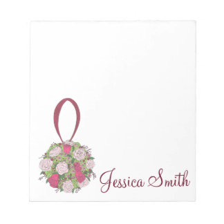 Personalized Wedding Bridal Party Bouquet Notepad