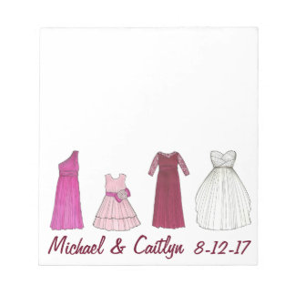 Personalized Wedding Bridal Party Shower Notepad