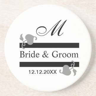 Personalized Wedding Coasters::Monogrammed