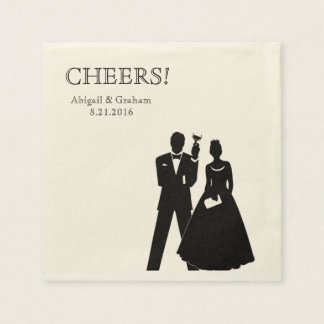 Personalized Wedding Cocktail Napkins Paper Napkin