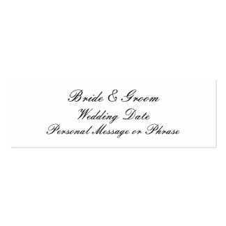 Personalized Wedding Favor Tag Template Pack Of Skinny Business Cards