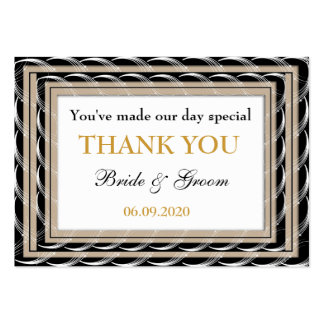 Personalized Wedding Favors Thank You  Gift Tags Pack Of Chubby Business Cards