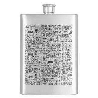 Personalized Wedding Gift Bride Groom Flask