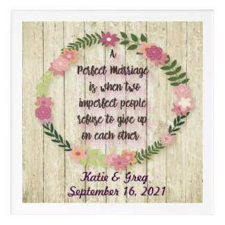 Personalized Wedding Gift Wall Art w/ Love Quote
