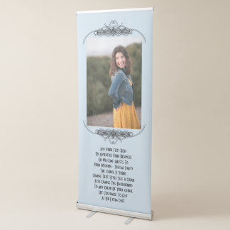Personalized Wedding Party Or Advertising Photo Retractable Banner