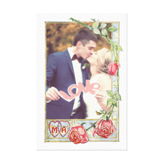 Personalized wedding photo canvas print