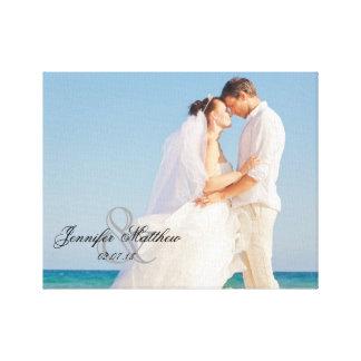Personalized Wedding Photo Keepsake Gallery Wrapped Canvas
