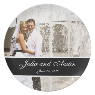 Personalized Wedding Photo Keepsake Plate