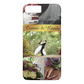 Personalized Wedding Picture Collage iPhone Case
