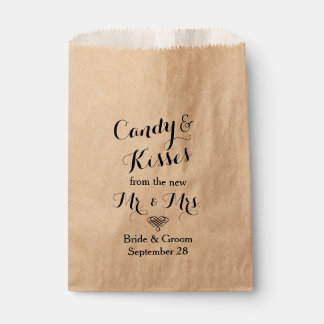 Personalized Wedding Popcorn or Candy Bar Buffet Favour Bags