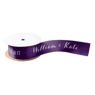 Personalized wedding ribbon choose color ribbon satin ribbon