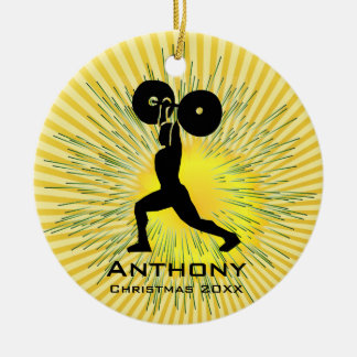 Personalized Weight Lifter Ornament