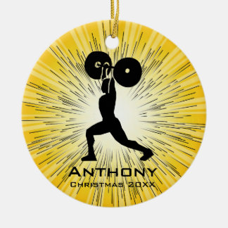 Personalized Weightlifting Design Ornament