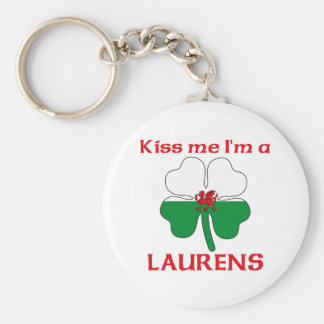 Personalized Welsh Kiss Me I'm Laurens Keychains
