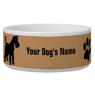 Personalized Welsh Terrier ウェルシュ・テリア Pet Water Bowl