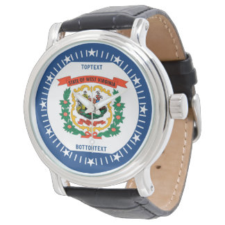 Personalized West Virginia State Flag Design Wristwatches
