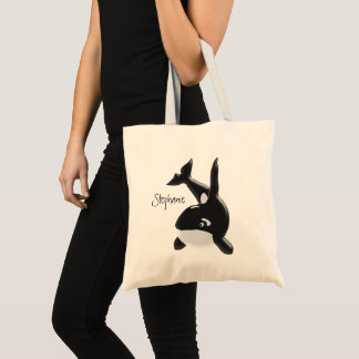 Personalized Whale Design Tote Bag