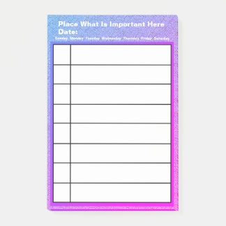 Personalized What You Need To Do List Post-it Notes