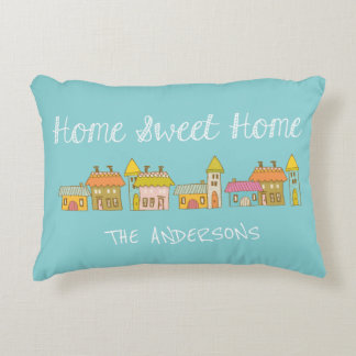 Personalized Whimiscal Home Sweet Home Pillow