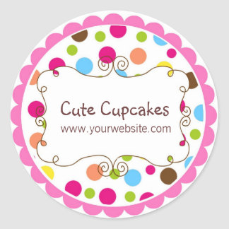Personalized Whimsy Polka Dot Stickers